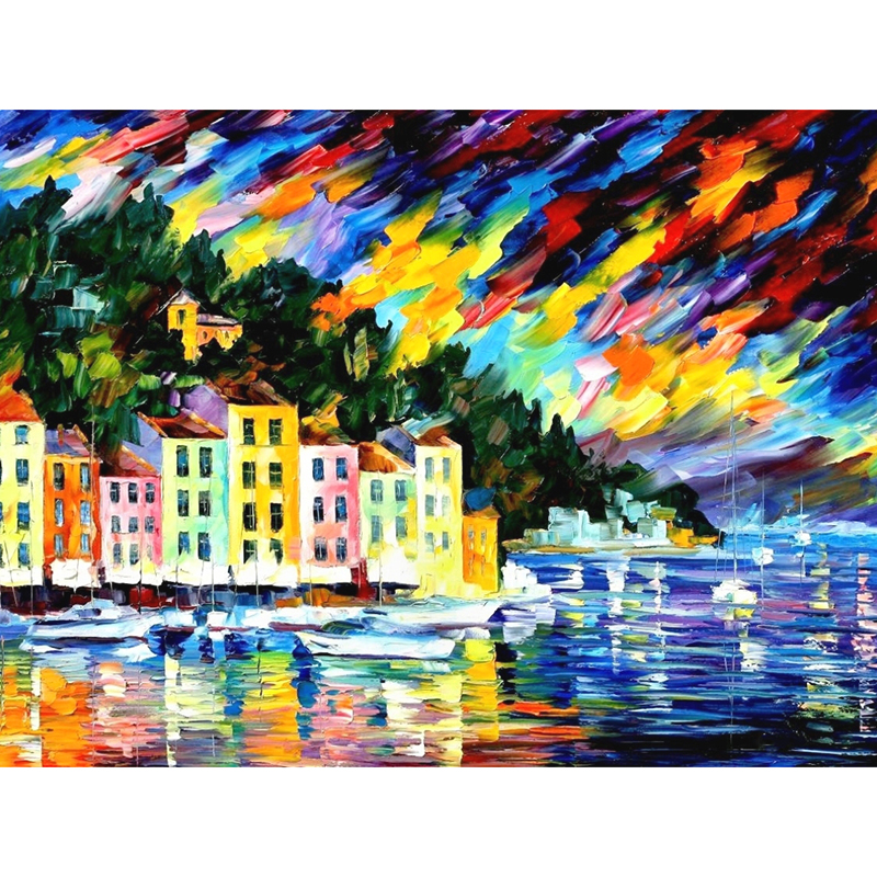 5D DIY full Square/Round Drill diamond painting Cross stitch City Pier Painting Rhinestone embroidery Home Mosaic decor gift