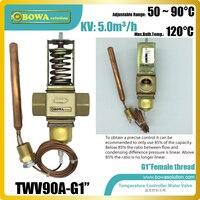 Температура работать воды клапаны с G1 резьбой увеличение потока с уменьшением Температура s в паровой водонагреватели