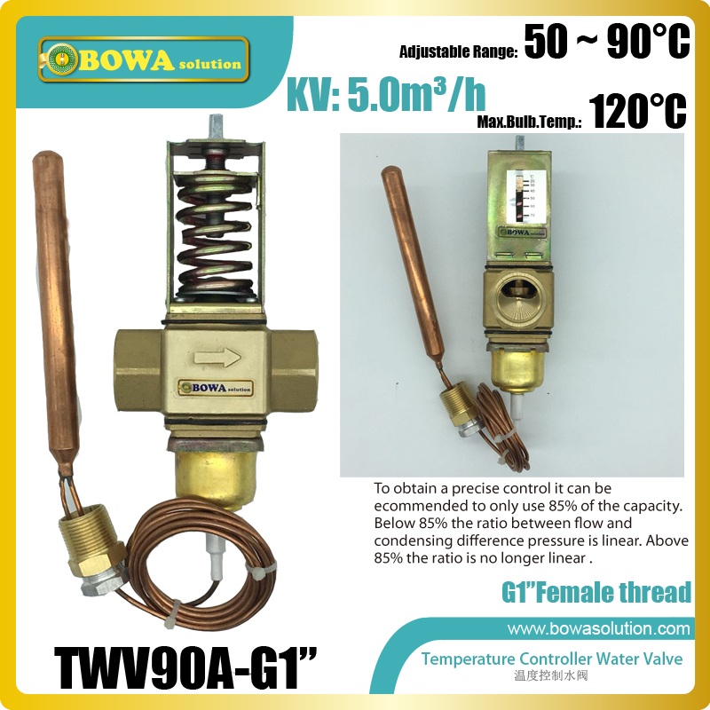 """Temperature operated water valves with G1"""" thread connection flow increase with decreasing temperatures in steam water heaters Heat Pump Water Heater Parts    - AliExpress"""