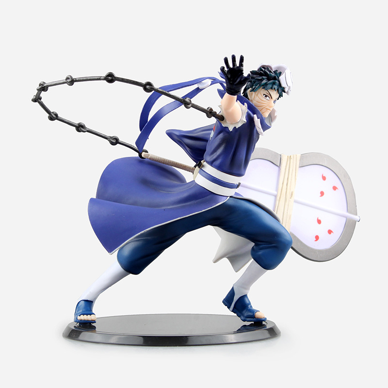16CM Naruto Uchiha Obito Pvc Action Figure 1/10 Scale Anime Collection Model Brinquedos Kids Toys for Children Birthday Gifts anime one piece dracula mihawk model garage kit pvc action figure classic collection toy doll
