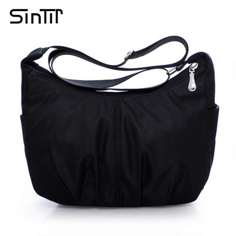 ae94dbed0ef6 Sintir Водонепроницаемый нейлон Для женщин Курьерские сумки Повседневное  сцепления Carteira Винтаж Hobos женская сумка женская через