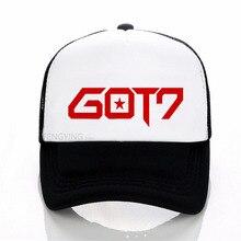 Cap Summer Mesh-Hat Baseball-Cap Trucker-Cap Sports Fashion Kpop GOT7 Jackson Adjustable