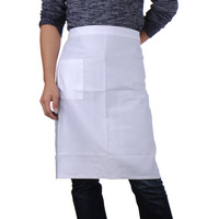 76 66cm Polyester Stripe Bib Apron With Pockets Chef Waiter Kitchen Cook Tool Kitchen Apron For