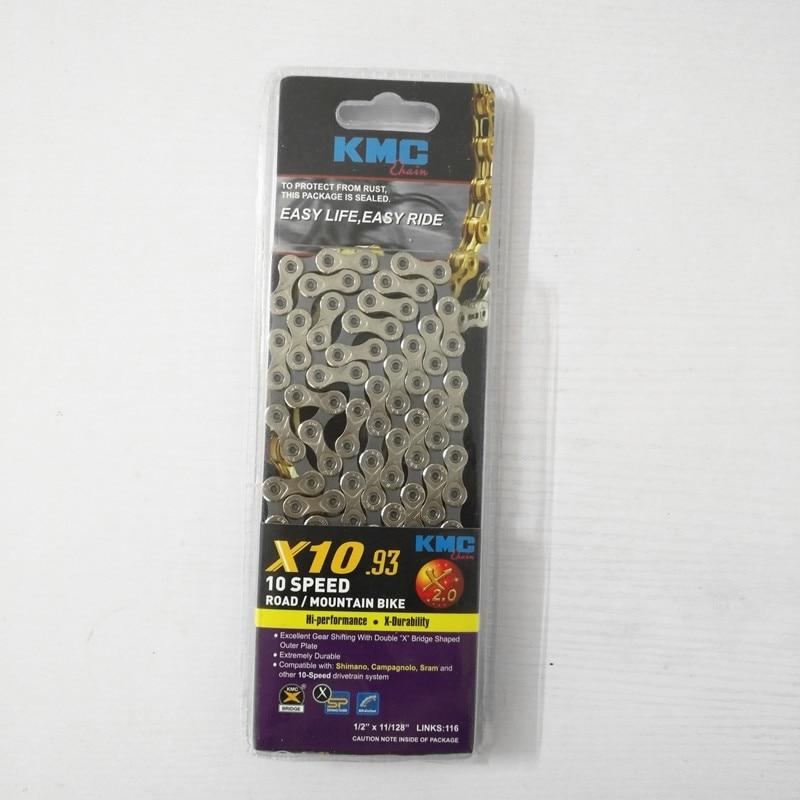 купить  Kmc X10 Mtb Mountain Road Bike Chain 10 Speed Light Bicycle Chain 116 links  недорого