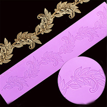 Фотография Leaf Big Size Lace Pad Cake Decoration Fondant Cake 3D Mold Food Grade Silicone Mould JD1106