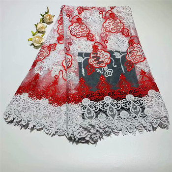 Nigerian Lace Fabrics 2019 High Quality lace For Wedding Dress African Cord Lace Fabrics Guipure Lace for wedding dress df76-65