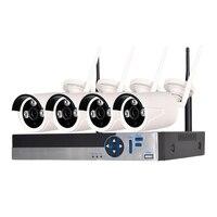 Full HD 1080P 4CH Surveillance System Wireless Home Security System NVR Surveillance System CCTV Kits 4PCS