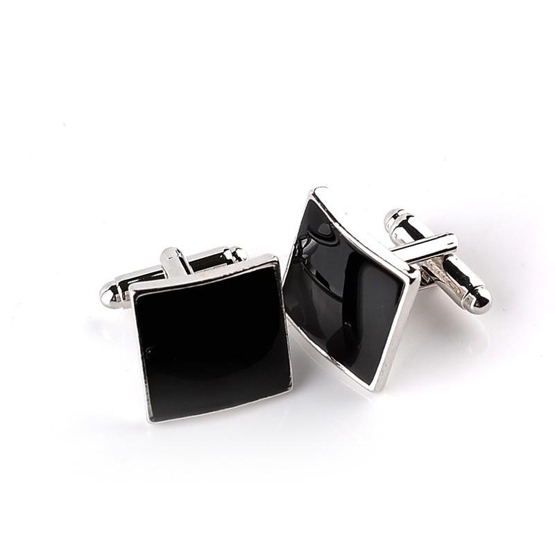 HTB1g6MyMVXXXXcrXVXXq6xXFXXXN - Classic Black Square Quality Cufflinks