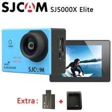 Оригинальный SJCAM SJ5000X Elite Wi-Fi 4 К 24fps HD гироскопа 2.0 ЖК-дисплей ntk96660 Водонепроницаемый Спорт действий Камера + дополнительная 1 шт. аккумулятор + Зарядное устройство