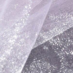 Image 3 - 5 Meter * 48 Cm Sheer Crystal Organza Tulle Roll Stof Gaas Voor Bruiloft Decoratie Diy Bogen Stoel Sjerpen Baby douche Levert 7