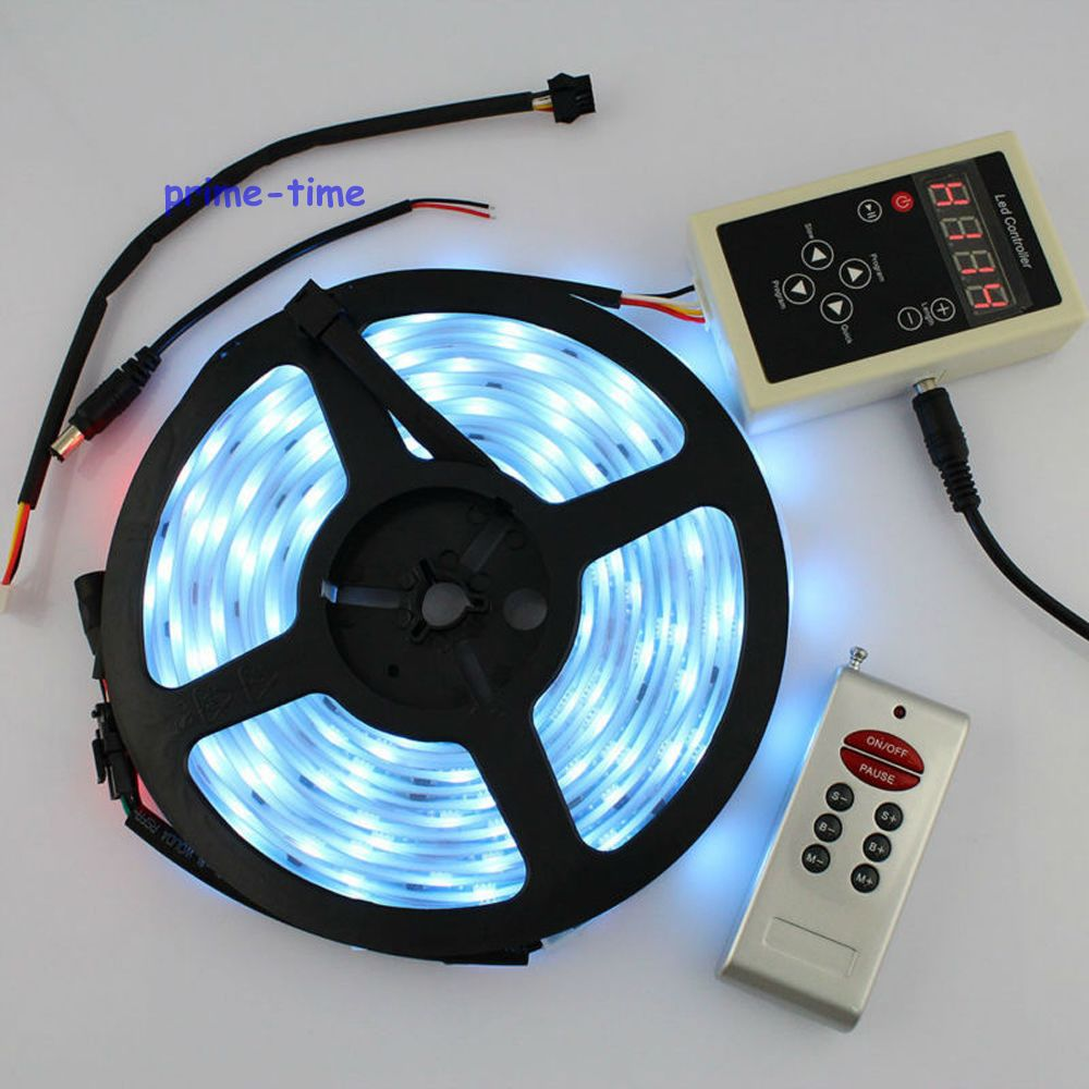 Светодиодная лента, 5 м, 12 в пост. Тока, LPD6803, IC, 5050 SMD, 30 светодиодов/M150LEDs, IP67, водонепроницаемая, Magic Dream Color, 133 изменения, 6803, RF контроллер