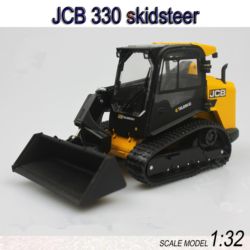 Collectible Diecast Toy Model Gift ROS 1:32 JCB 330 Wheeld Skid Steer Loader Engineering Machinery Vehicles for Decoration