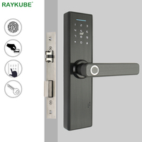 RAYKUBE Biomet Fingerprint Door Lock Smart Card / Digital Code / Keyless Electronic Lock Home Office Security Mortise Lock R FG5