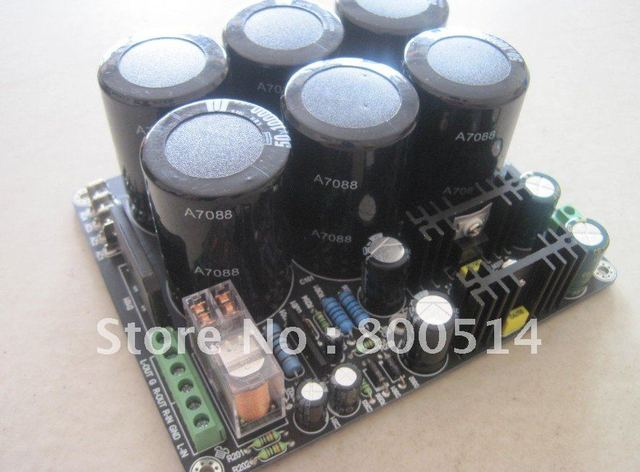 high quality amplifier PSU   6X 10000uF 50V power supply board  with speaker protection