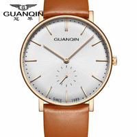 GUANQIN Classic Creative Watch Luxury Brand Simple Watch Ultra Thin Quartz Watch Men Clock Male Casual