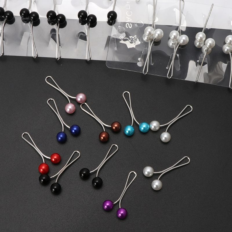 Image 5 - 12Pcs Muslim Hijab Pearl Clip Brooch Pins Scarf Safety Clip Women Wedding PinBrooches