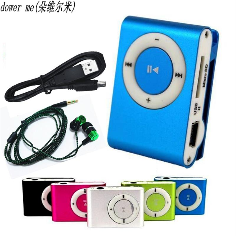 2018 NEW Headphones Mp3 Music Player Mp3 Player Support Micro TFCard Slot USB MP3 Sport Player USB Port With Earphone For Phone ...