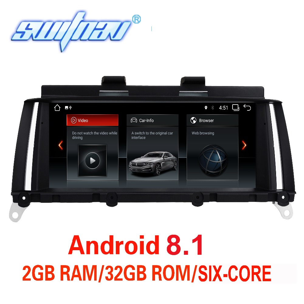 6 core Android 8.1 FOR BMW X3 F25 BMW X4 F26 CAR DVD player audio stereo Multimedia GPS stereo monitor all in one ips screen