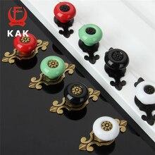 Kak 10 шт. цветные бронзовый керамические ручки ящика шкаф шкаф справиться простой дизайн ручки на одно отверстие ручки мебельная фурнитура
