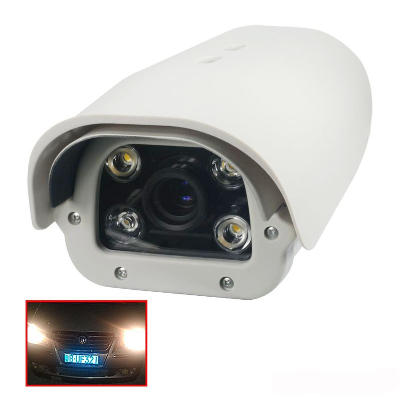 Onvif 1080P 2MP 2 8 12mm lens POE Vehicles License Plate Recognition LPR IP Camera outdoor