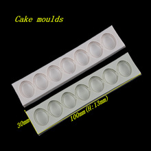 100*30*13mm Pearl Beads Jewelry necklace shape silicone mold fondant cake chocolate decoration mould baking tools DIY craft mold