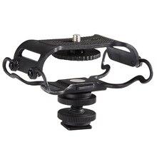 Soporte BY C10 para micrófono para Zoom H4n/H5/H6 para Sony Tascam DR 40 DR 05 grabadoras Microfone Shockmount Olympus Tascam