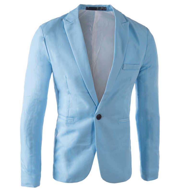 ブランドスカイブルーブレザー男性衣装 Veste オム 2017 新到着メンズスリムフィットブレザージャケットスタイリッシュな赤、黒、ピンクスーツ男性 3XL