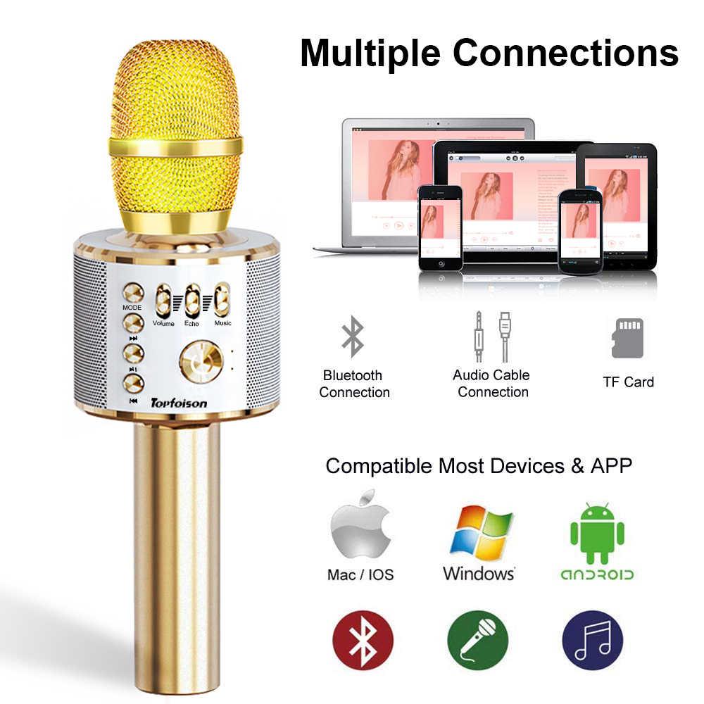 Беспроводной микрофон интимные аксессуары Professional Bluetooth динамик ручной микрофон караоке музыкальный плеер пение регистраторы KTV дома