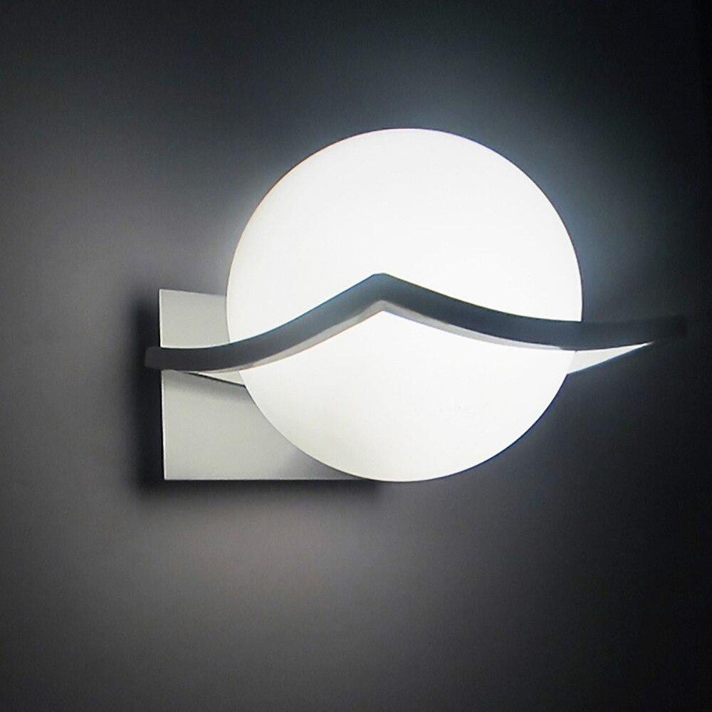Nouvelle arrivée unique et nouveauté led mur lampes boule de verre appliques murales pour la maison E27 AC85V-265V livraison gratuite