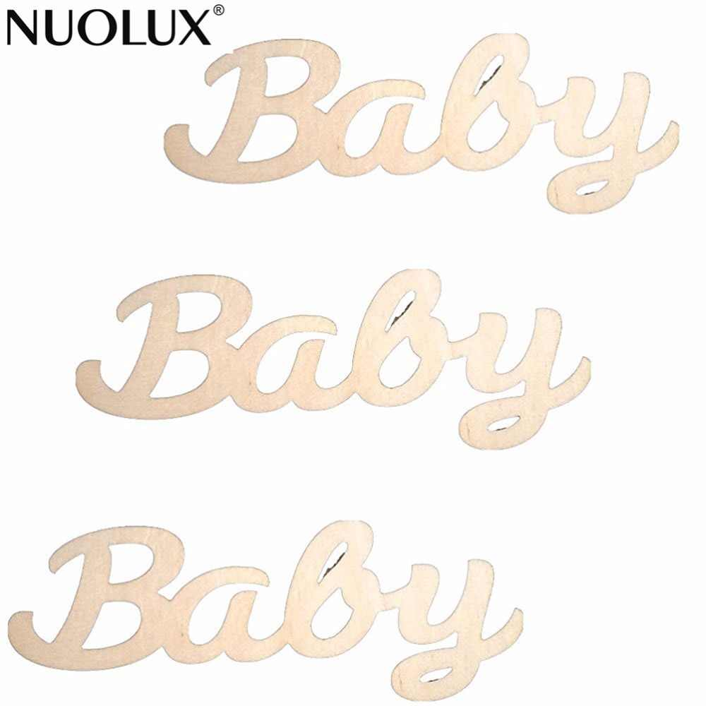 10pcs Wooden MDF Plain Baby Sign Wood Embellishment For DIY Crafts Wedding  Party Decoration DIY Supplies d92c5830b25b