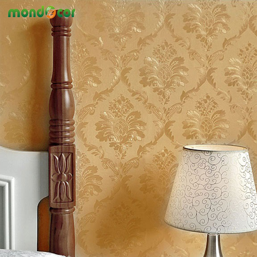 10M Vintage Floral Embossed PVC Wall Paper Water Proof Self Adhesive Wallpaper