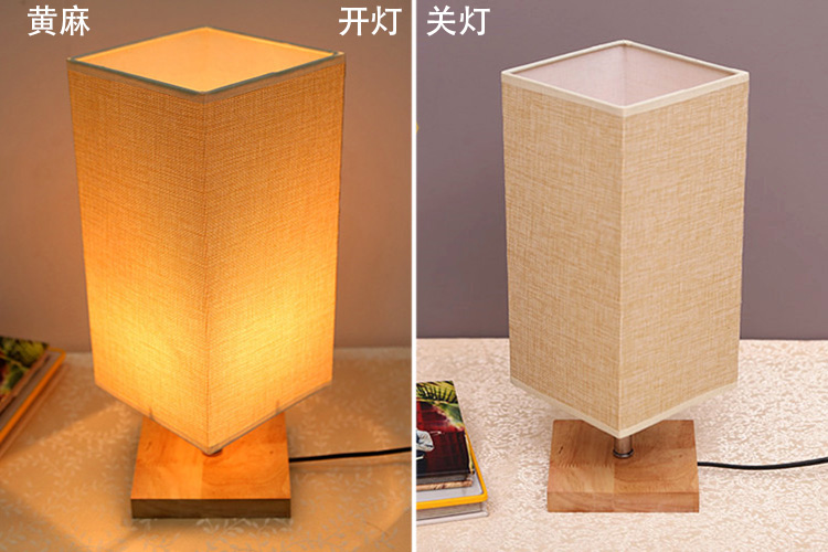 10 pcs lampshade E27 medium handmade classic decorative flax table lamps fabric cover Rustic Country retro ...