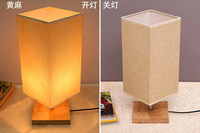 2 Pcs Lampshade E27 Medium Handmade Classic Decorative Flax Table Lamps Fabric Cover Rustic Country Retro