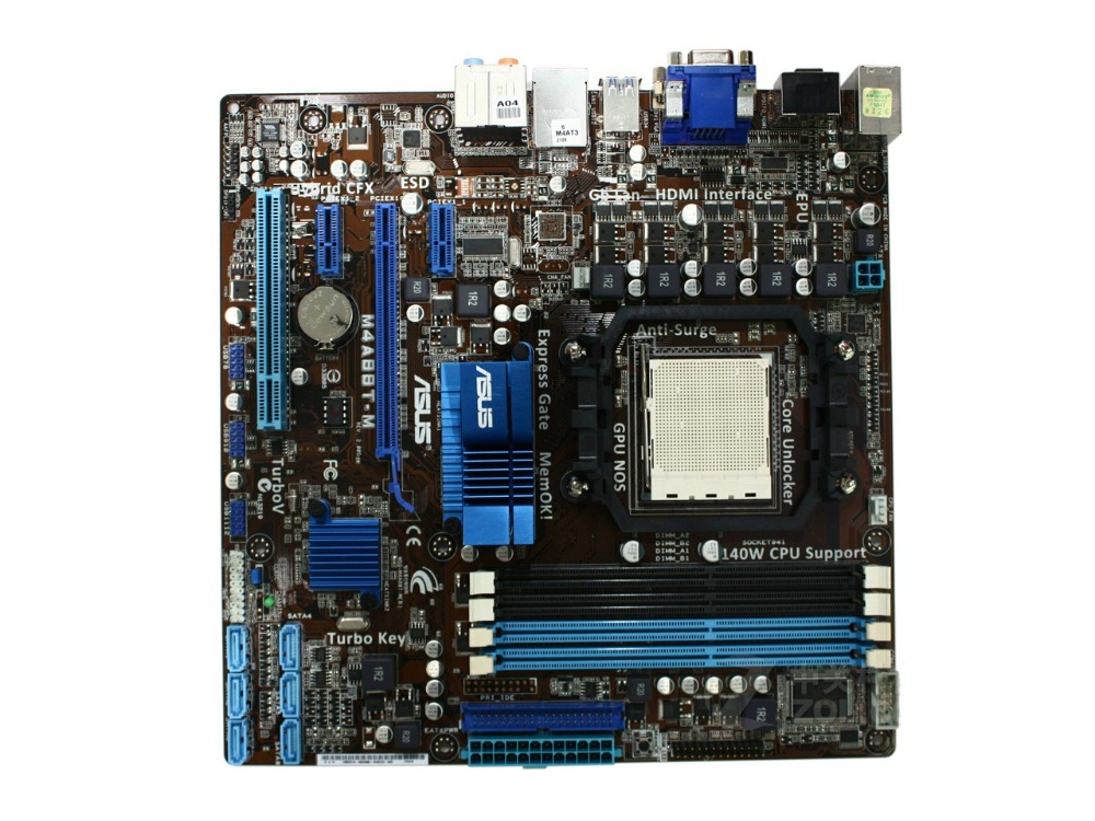 Asus M4A88T-M  Original Used Desktop Motherboard / 880G Socket AM3 DDR3 SATA II USB2.0 uATX original used desktop motherboard for asus p5ql pro p43 support lga7756 ddr2 support 16g 6 sata ii usb2 0 atx