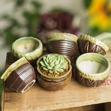 New high-end retro classical creative ceramic flowerpot has a large hole garden pots