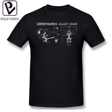 Basset Hound T Shirt The Aerodynamics Of A T-Shirt Short-Sleeve Cute Tee Graphic Summer Male Tshirt
