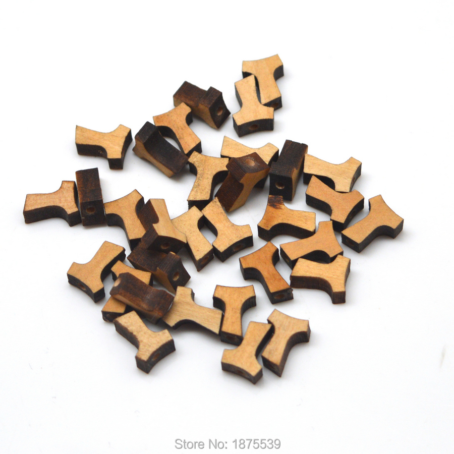 100 Pieces Tau Cross Small Size 12*9 mm Straight Hole Inside