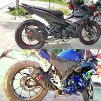 Moto rcycle выхлопной трубы 500cc 600cc r11 углерода глушитель R6 R1 CBR500 Z750 akrapovic выхлопная трубно escape moto escapamento de moto