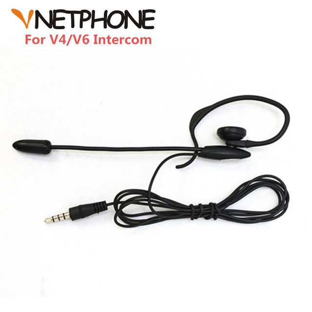 Sccoer Refree Intercom Headset Accessories Mic Speaker ONLY Suitable for V6/V4/V4C/V6C Intercom Bluetooth Interphone 3.5mm Plug