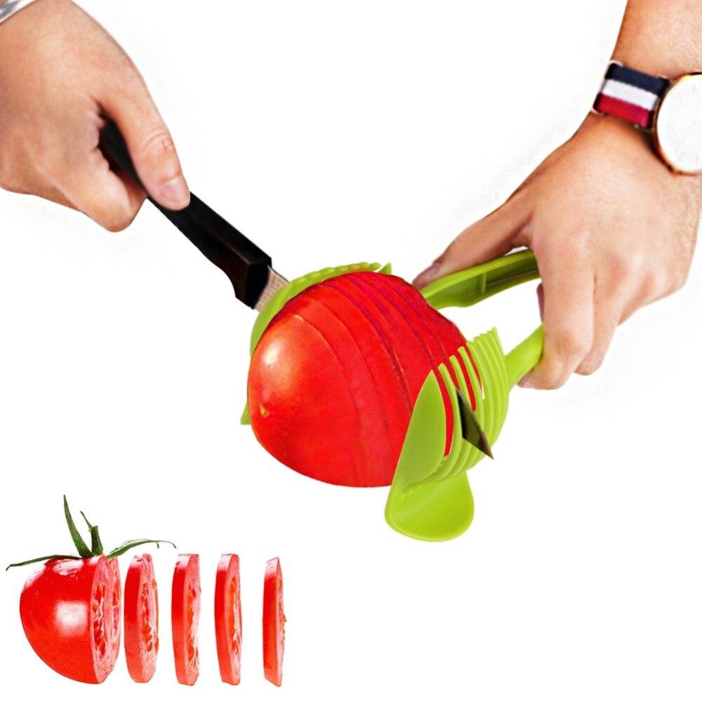 Potato Slicer Tomato Lemon Cutter Fruit Vegetable Chopper Shredder Cutting Holder Kitchen Food Clip Cooking Tools