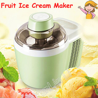 Automatic Mini Fruit Ice Cream Maker 220V 90W Household Soft / Hard Ice Cream Machine ICM 700A 1