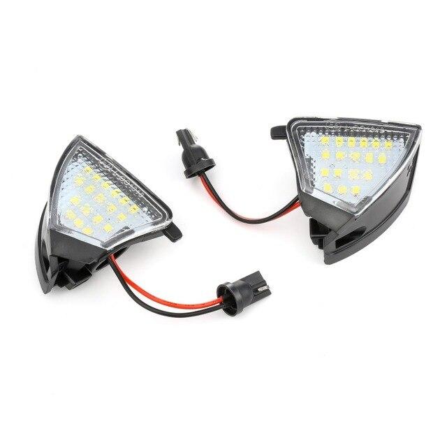 2Pcs Error Free LED Under Mirror Light Puddle Lamp for VW Golf 5 Mk5 MkV GTI Passat b6 Jetta R32 Golf6 Variant