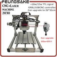 GRBL CNC 2030 Customize Diy Mini Cnc Engraving Machine Laser Engraving Pcb PVC Milling Machine USBCNC