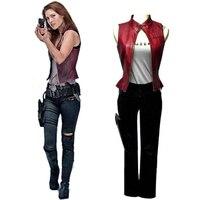 Resident Evil Afterlife 3 Claire Cosplay Üniforma Suit Seksi Kadın Cadılar Bayramı Kostümleri Ismarlama Herhangi Boyutları Ücretsiz Kargo