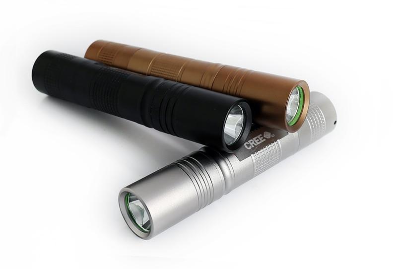 Czarny / srebrny / brązowy Mini Q5 LED 1000LM 5 trybów Wysokiej - Przenośne oświetlenie - Zdjęcie 2