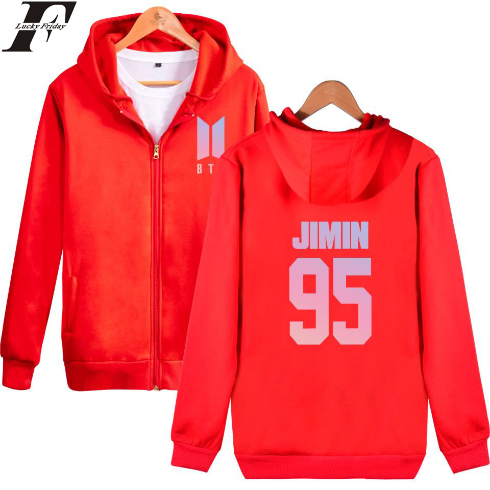 BTS DNA Zipper Hoodies Men Bangtan Kpop New Album Men Hoodies Sweatshirts BTS Love Yours ...