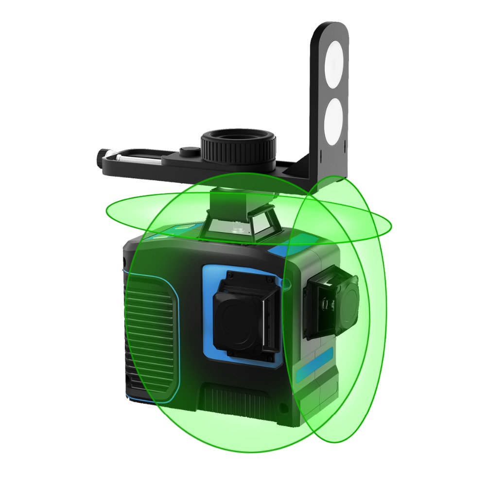 12 Lines 3D Green Beam Self Leveling Laser Level 3x360 Cross Line Three Plane Leveling and