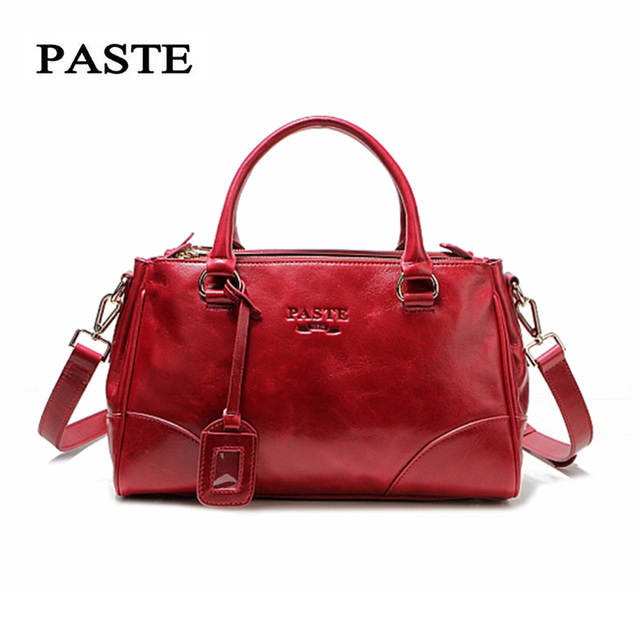 3f6879933768 PASTE Brand Handbags Women Shoulder Bags Luxury Designer Guaranteed 100%  Genuine Leather Fashion Totes Messenger