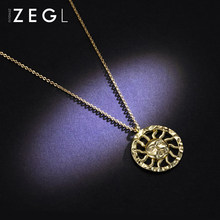 ZEGL niche design brand retro necklace female cool handsome clavicle chain instin cool European and American jewelry(China)