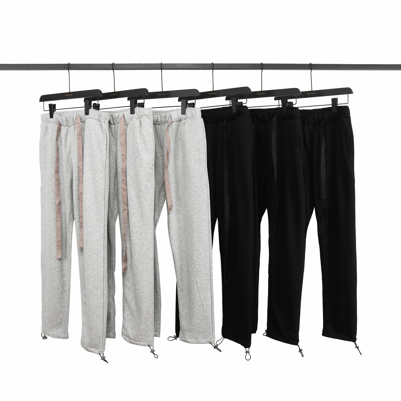 2019 Kanye West Hip Hop Style Full Length Jogging Pants Sweatpants For Men Ribbon Mens Streetwear SweatPants